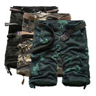 Mens Stylish Pants Casual Work Combat Army Shorts Cargo Hiking Sports Trousers