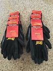 Внешний вид - 6 Pairs BLACK Diesel PRO-TEKK Latex Grip General Purpose Work Gloves