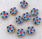 13x13x8mm cloisonne beads Buddhist amulets Jewelry accessories gifts #15
