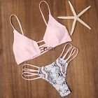 Women Push-up Padded Bra Bandage Bikini Set Swimsuit Triangle Swimwear TXCL