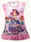 Disney Little Mermaid Ariel Enfants Filles Jupe Pyjama Robe Girls Rose 3-10 ans