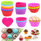 8/10/16 Silicone Heart Round Muffin Baking Cup Cake Cupcake Chocolate Liner Mold