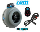 RAM 4 inch 100mm extraction, inlet fan Rapid Air Movement Fan & speed controller