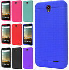 Cricket ZTE Sonata 3 Z832 Rugged Rubber SILICONE Soft Gel Skin Case+Screen Guard