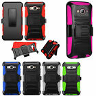 Samsung Galaxy On5 COMBO Holster Hard HYBRID KICKSTAND Rubber Case +Screen Guard