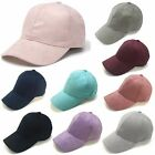 Adjustable Unisex Faux Leather Suede Fitted Baseball Hat Plain Sports Cap Visors