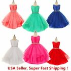 DH Wedding Flower Baby Girls Crystals Waist Taffeta Pageant Dress up