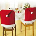Red Santa Hat Christmas Decoration Chair Back Covers Ornament Chair Decor Set
