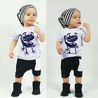 2pcs Toddler Infant Kids Baby Boys Clothes T-shirt Tops+ Short Pants Outfits Set