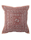 Geometric Cushion Cover Indian Embroidered Cotton Pillow Case Cover Throw 16""