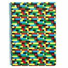 LEGO® A4 Twin Wire Spiral Bound Wide Ruled Deluxe Notebook School Home Office