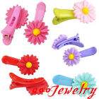 2pcs Daisy Resin Hair Allgator Clip Hairpin Child Student Hair Accessories