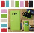 Luxury PU Flip Leather Case Cover Wallet Card Slot For Samsung J Phones