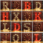 Metal LED Marquee Letter Lights Vintage Circus Style Alphabet Light Up Sign 12''