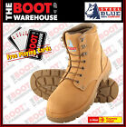 Steel Blue 'Argyle' 312102 Work Boots. Wheat. Steel Toe Cap Safety. Lace up!
