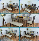 Dining Table and 4 Chairs Bench Solid Wood Set Glass Extending Kitchen Furniture for sale  United Kingdom