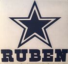 Dallas Cowboys Custom Name Decal for your Yeti Tumbler Rambler Window Lap Top