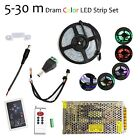 5-30 m RGB 133 Dream color 5050 6803 IC Waterproof LED Strip + Remote + Power