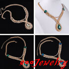 Elegant Crystal Rhinestone Choker Bib Statement Necklace Boho Fashion