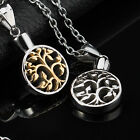 AgentX Mens Tree Of Life Pendant Necklace Jewelery Gift Silver/Golden +Chain&Bag