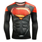 New Fitness Compression Shirt Men Superman Bodybuilding Long Sleeve 3D T SHIRTS