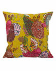 Indian Kantha Work Cotton Cushion Cover Green Sofa Ethnic Pillow Covers