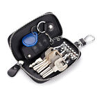 Men's Leather Key Case ID Card Holder Zip Wallet Keychain Purse Key Ring Clutch