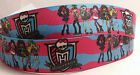 """Girls Ghouls Monster High Inspired Movies Shows Printed Grosgrain Ribbon 1"""""""
