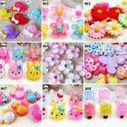 Внешний вид - 10pcs Mixed Colors Cartoon Resin Flatback Hair Accessories DIY Craft 9 Designs