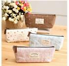 Canvas Pencil Pen Case Coin Purse Pouch Zipper Bag Cosmetic Makeup Organizer LJ