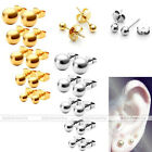 Classic Stainless Steel Silver/Gold Ball Ear Helix Tragus Cartilage Stud Earring
