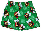 Movie Elf Boxer Shorts Cotton Headed Ninny Muggins Xmas Men Underwear Green NWT