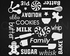 "KITCHENAID DECAL MIXER WRAP 8"" X 8"" CHRISTMAS SHEET 25 STICKERS VINYL DIY CRAFTS"