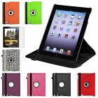 360 Rotating Color Magnetic Case Cover Stand for iPad 4th 3rd 2nd Gen 4/3/2+Film