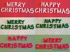 3CM HIGH FELT MERRY/HAPPY CHRISTMAS LETTERS- CHOICE OF RED,GREEN OR WHITE