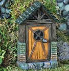 Fiddlehead Fairy Door Cottage Arched Hobbit Striped Resin Home Garden Ornament