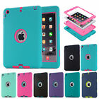 Shockproof Rugged High Impact Silicone PC Combo Case Cover For iPad Mini Air Pro