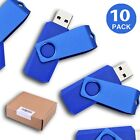 KOOTION 10 Pack/Lot 1GB-16GB USB 2.0 Flash Drive Swivel Memory Stick Thumb Drive