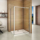 Pivot Hinge Shower Enclosure Cubicle and Tray Flexible Door Screen 900