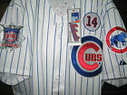New! Chicago Cubs #17 Kris Bryant Throwback 2patches sewn whitestripe Jersey Men