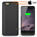 MFI power Charger backup battery case iphone 6 6s plus 5 5S SE/Real Glass Film