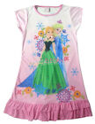 Disney Frozen Elsa Anna Enfants Filles Jupe Pyjama Robe Girls Dress Rose 3-9 ans
