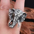 Biker Stainless Steel Men's Vintage Elephant head Ring Fashion Gifts US 8-12#