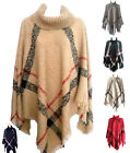 NEW Women Batwing Top Poncho Knit Cardigan Turtle Neck Sweater Cape Coat Outwear