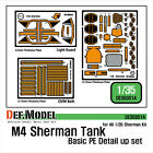 M4 Sherman PE detail upgrade set in 1/35 scale from DEF models