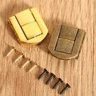 20x25mm Antique Brass Hasp Jewellery Box Suitcase Wood Chest Lock Latch Clasp
