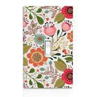 Flower Floral Cutout Wall Plate Toggle Decor Switch Plate Cover, Home Decor,
