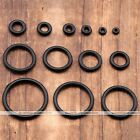 100pc Replacement Rubber Black O-Rings Fit Sizes 1.6mm ~ 20mm Ear Expander Taper