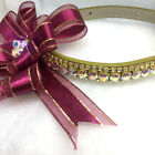 Sugarlicious Pets ™~Golden Burgandy Bow~Crystal Rhinestone Dog Cat Collar USA