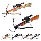 150 lb Black / Wood / Camo Hunting Crossbow Bow +4x20 Scope +12 Arrows 180 80 50